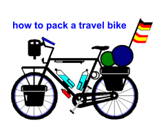 how to pack a travel bike